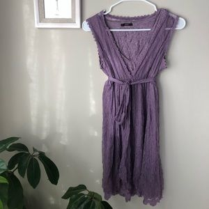 Soprano Purple Dress with Lace Overlay